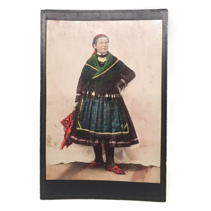 Hungarian Painted Cabinet Card 15, Circa 1880s