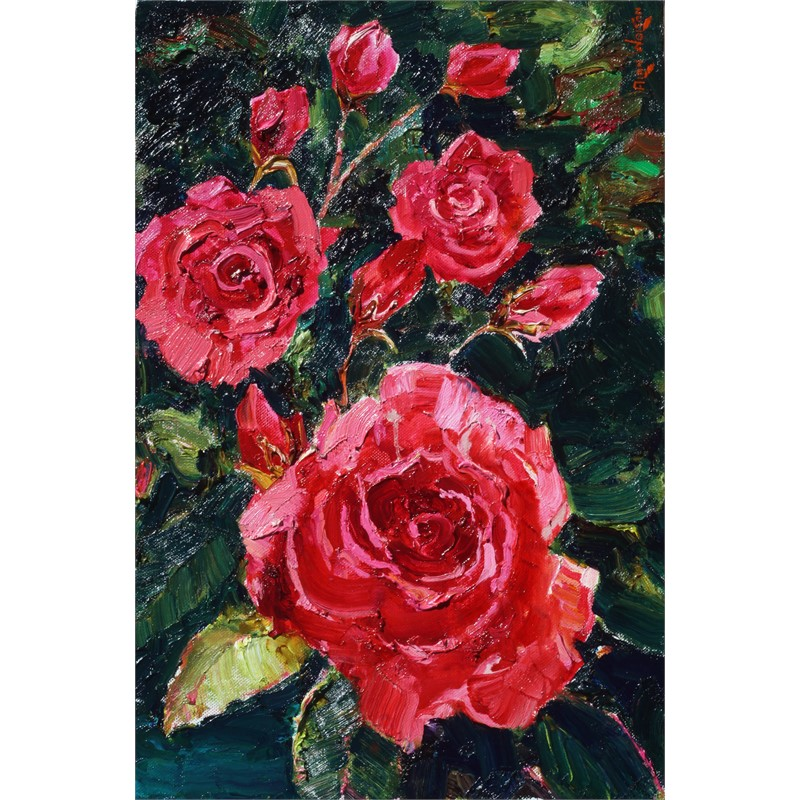 Ruby Roses by Alan Wolton