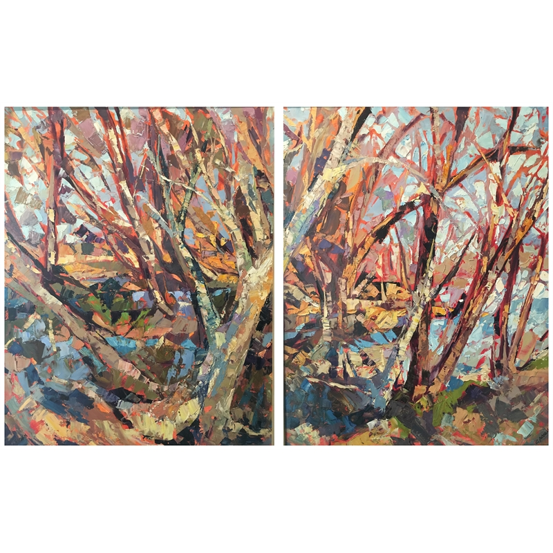 Nature's Raw Beauty (Diptych)