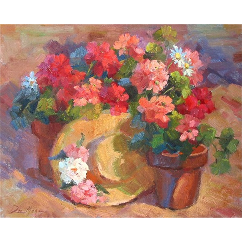 FLOWER POT AND HAT