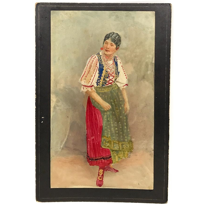 Hungarian Painted Cabinet Card 4, Circa 1880s