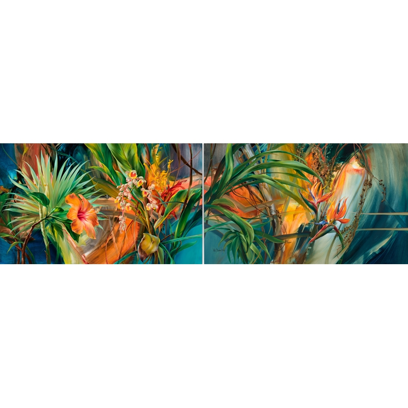 Tropical Parlor Diptych (0/250)