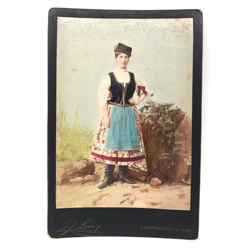 Hungarian Painted Cabinet Card 10, Circa 1880s