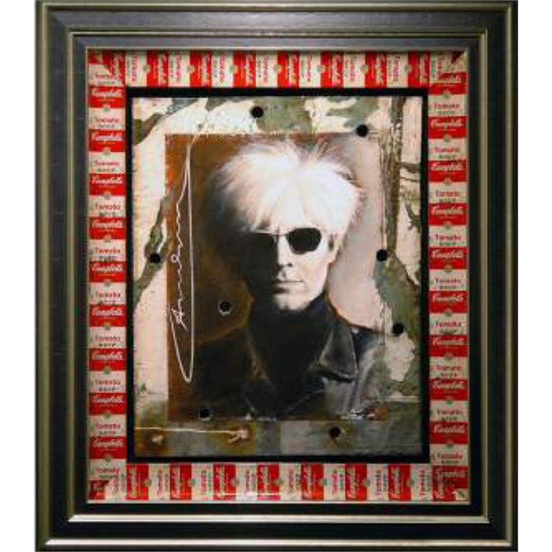 Warhol With Andy Warhol Signature on Card