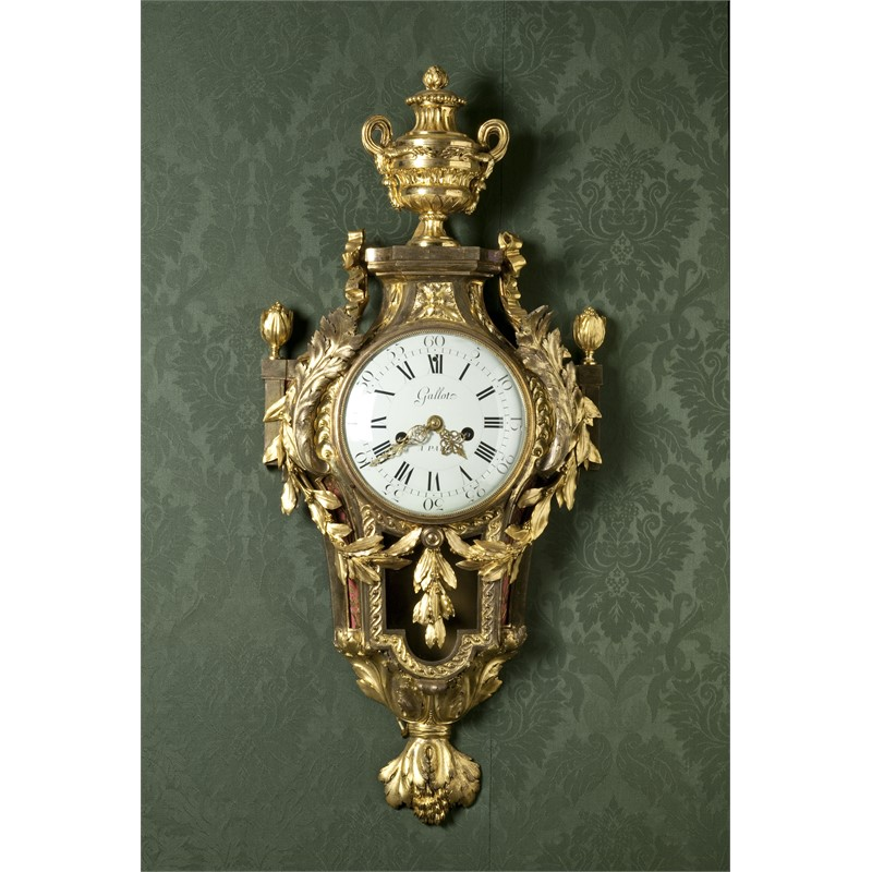 LOUIS XVI ORMOLU CARTEL CLOCK, MOVEMENT SIGNED GALLOT, French, 18th century