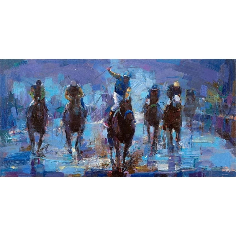 Triple Crown Collection - Win at The Preakness by Michael Flohr