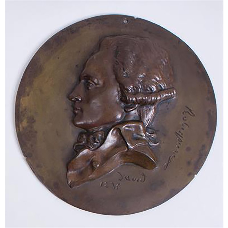 BRONZE RONDEL OF ROBESPIERRE, French, 1835
