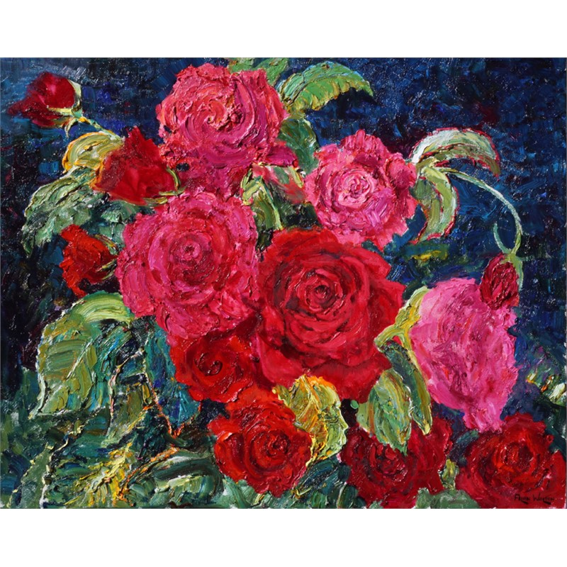 Red & Pink Roses by Alan Wolton