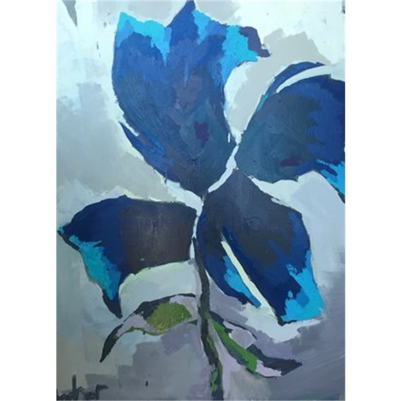 Large Blue Flower, 2018