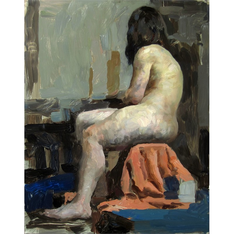 Figure in Orange, 2015