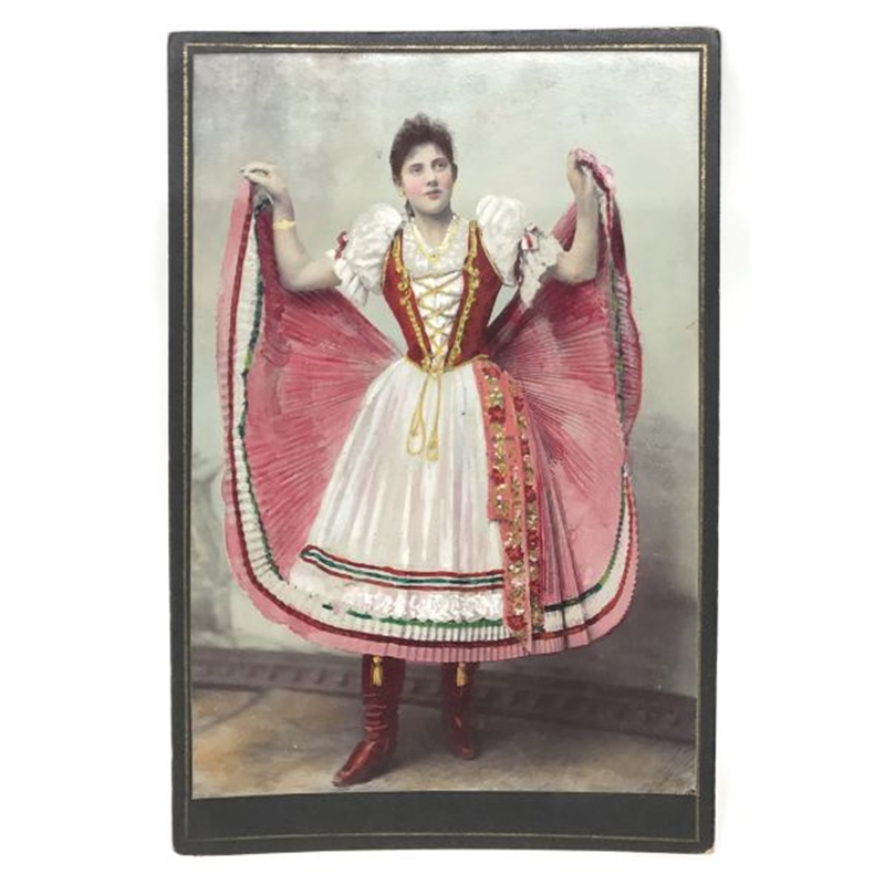 Hungarian Painted Cabinet Card 16, Circa 1880s