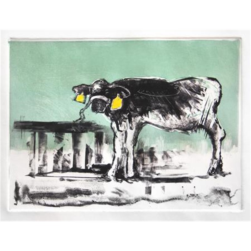 No. 5 Cow Against Green