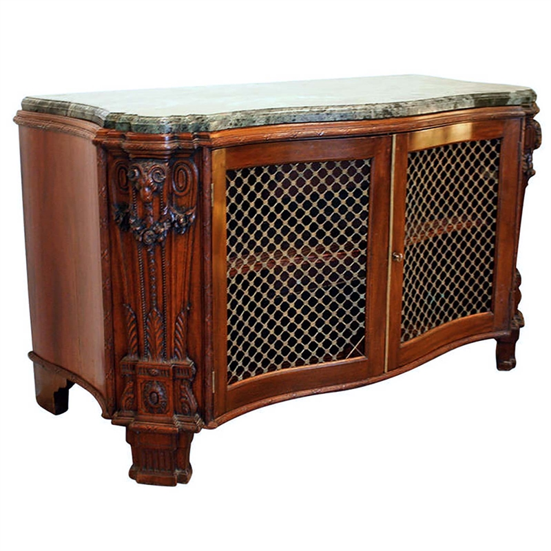 NEOCLASSICAL MAHOGANY CABINET WITH MARBLE TOP, North German, circa 1770