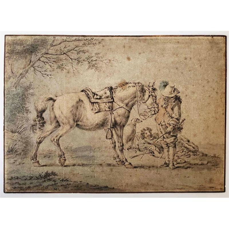 HORSE AND RIDER, Dutch, 17th century