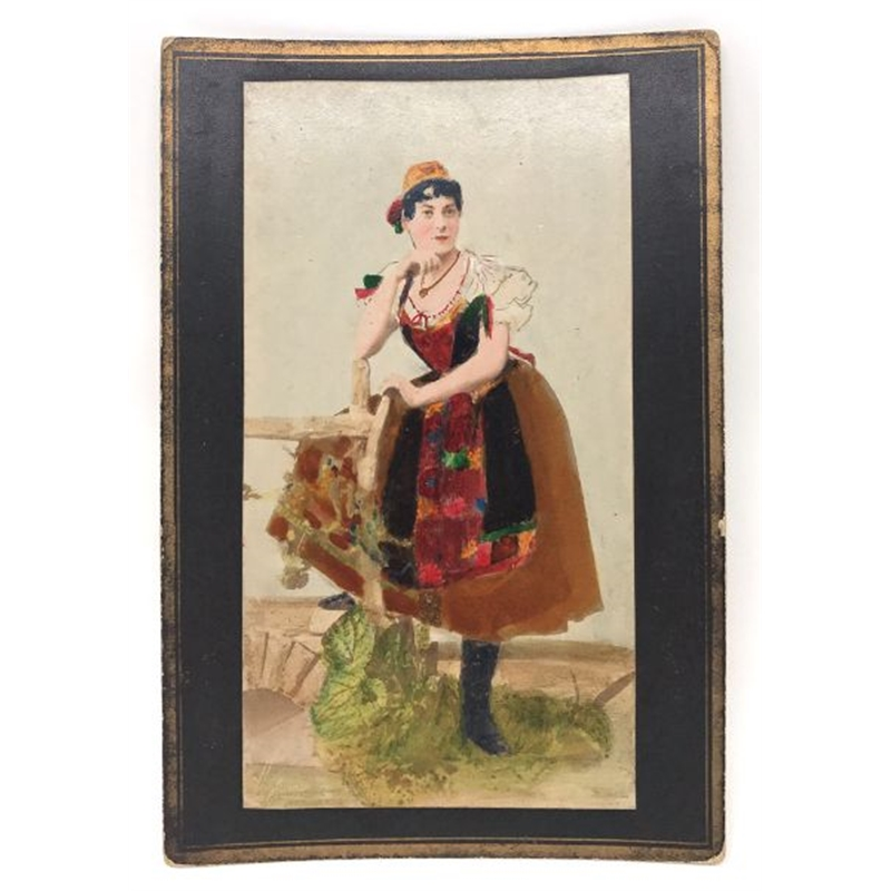 Hungarian Painted Cabinet Card 12, Circa 1880s