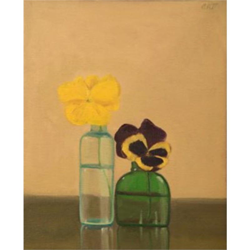 Two Bottles, Two Pansies