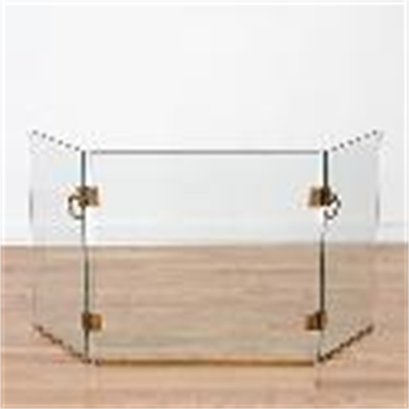 GLASS/BRONZE FIRE SCREEN STYLE OF JACQUES ADNET, French, circa 1950-60