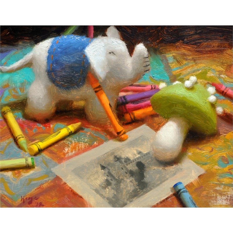 Felt and Crayons