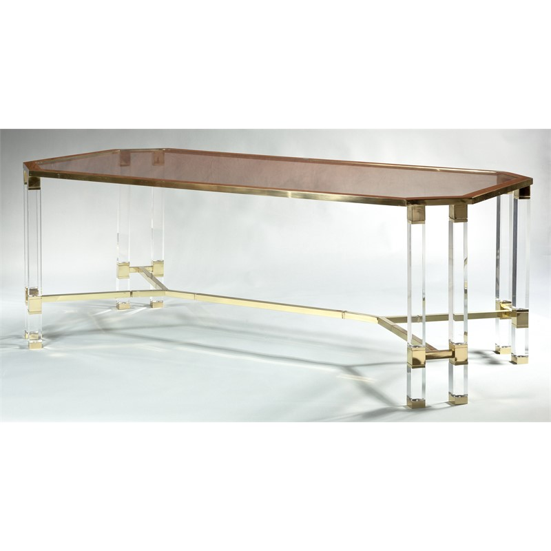 PLEX DINING TABLE WITH GLASS TOP, Italian, circa 1970s