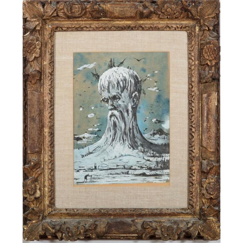 OLD MAN WINTER, French, 20th century