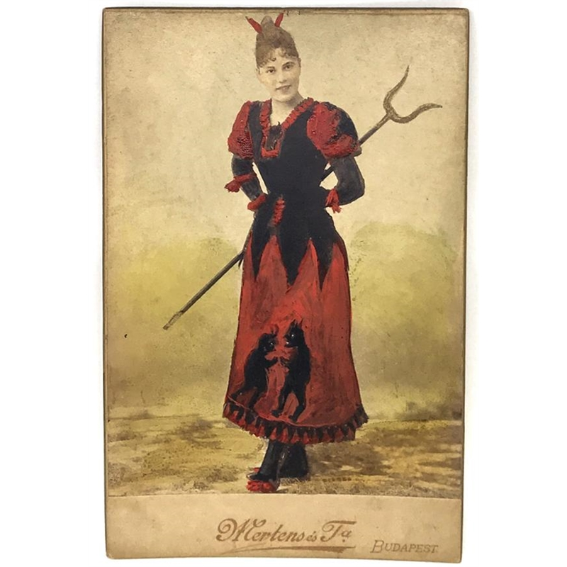 Hungarian Painted Cabinet Card 6, Circa 1880s