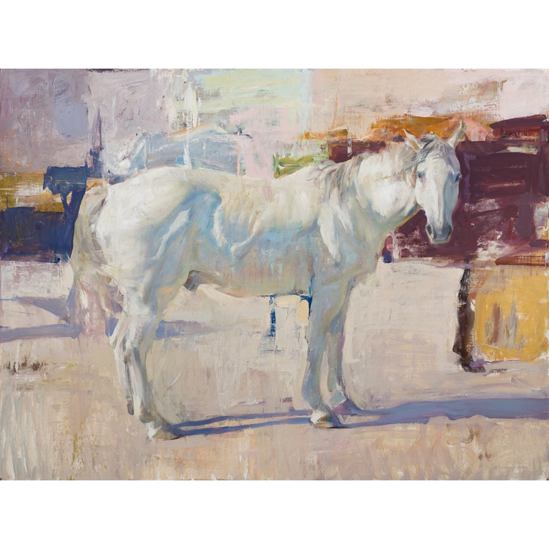 White Horse with Abstraction