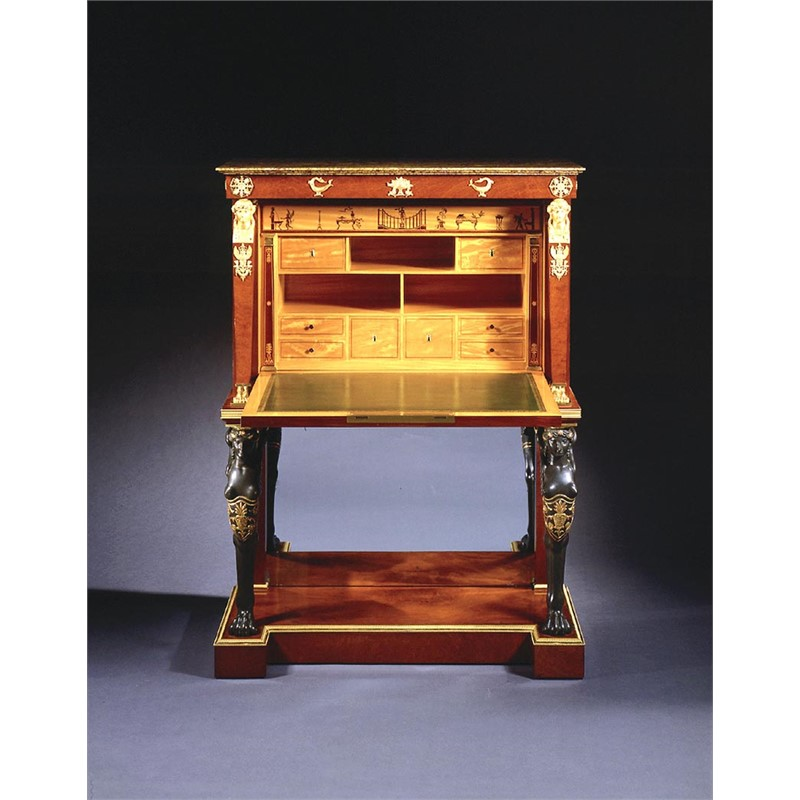 EMPIRE SECRETAIRE A ABATTANT STAMPED C. LEMARCHAND, French, circa 1805