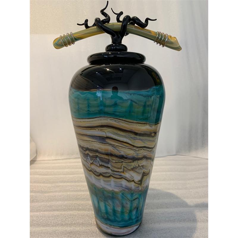 Covered Jar, Black Opal (Small)