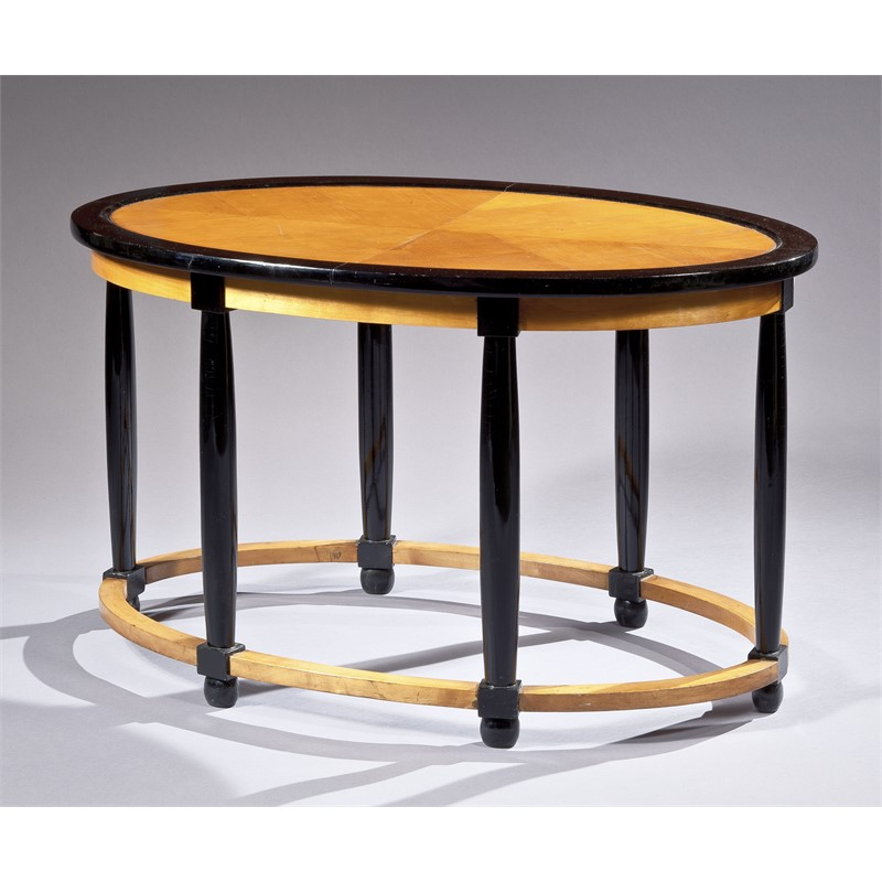 PART-EBONIZED SYCAMORE LOW TABLE BY ANDRE GROULT, French, circa 1912