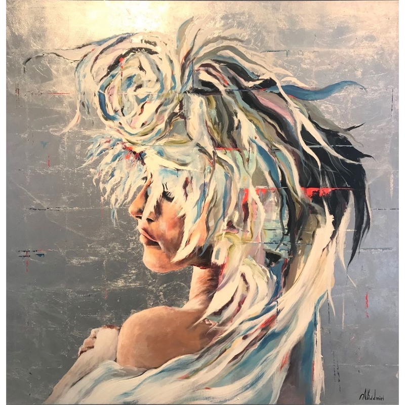Woman with Feathers