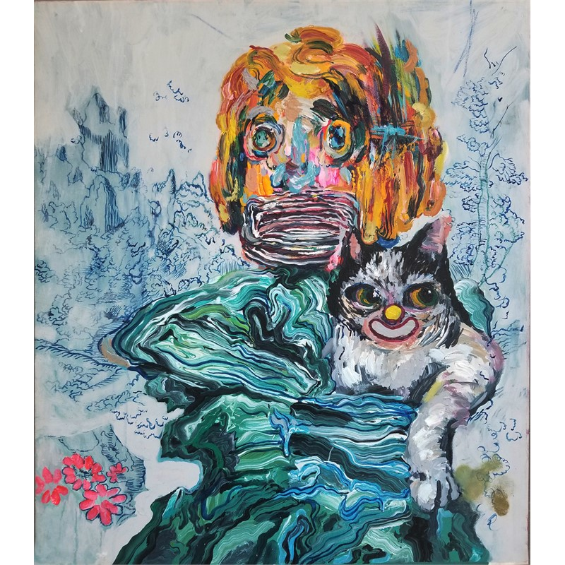 Boy with a Cat, 2019