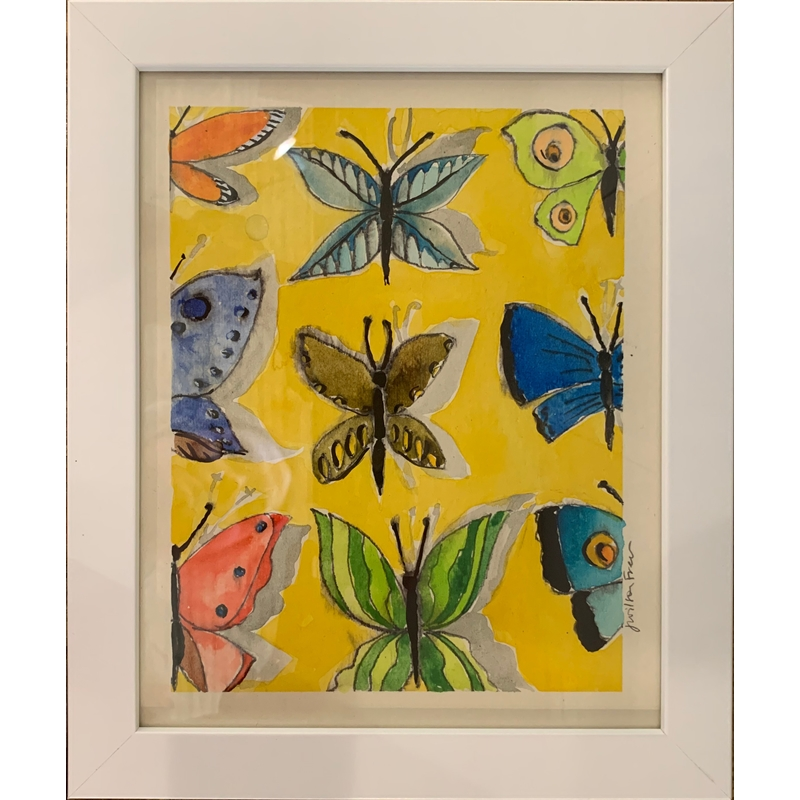 Butterflies on Yellow Ground, 2020