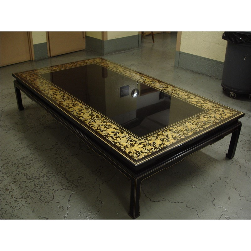BLACK LACQUER LOW COFFEE TABLE, Chinese, 19th century