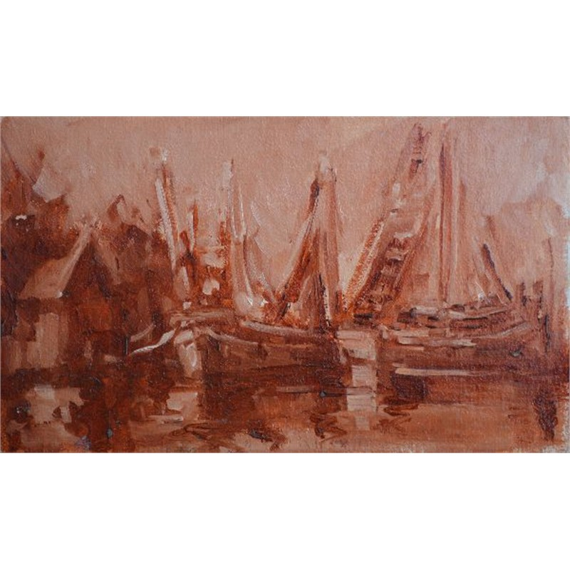Shrimp Boats in Sienna