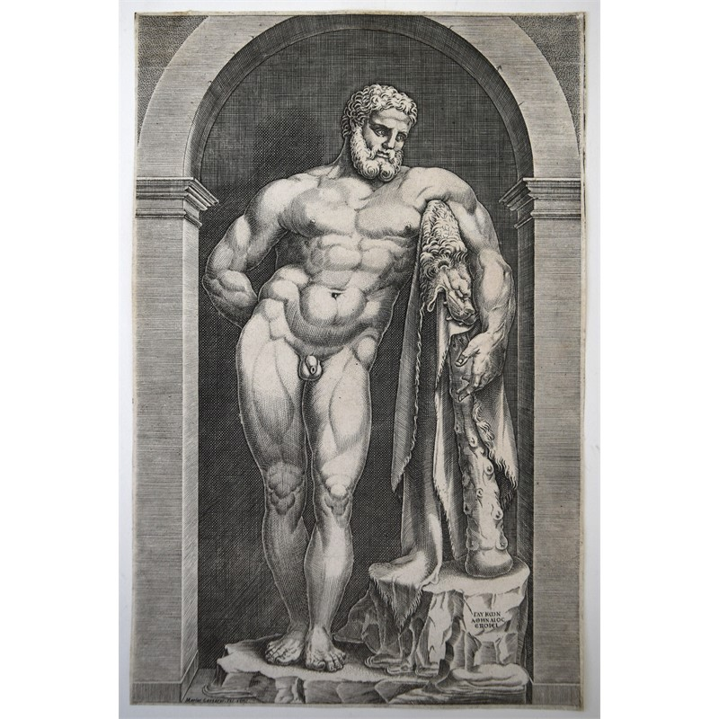 ENGRAVING BY MARIO CARTARO, Italian, 16th century