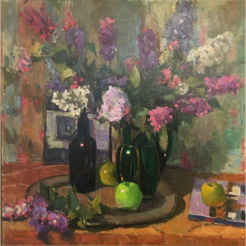Lilacs and Green Apple
