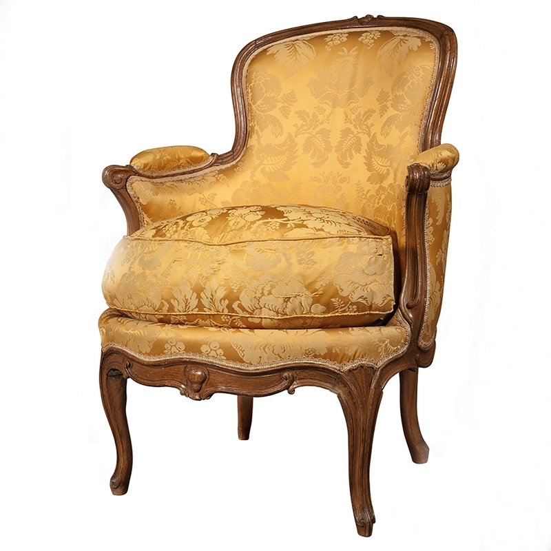 LOUIS XV BEEECHWOOD BERGERE, French, 18th century