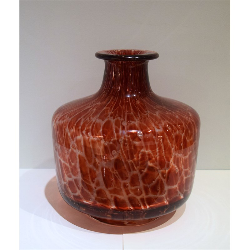 RED VENETIAN GLASS VASE