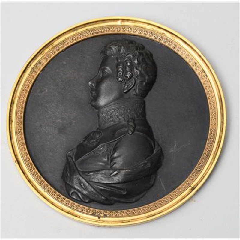 PRUSSIAN BRONZE BUST MEDALLION, Prussian, 1795