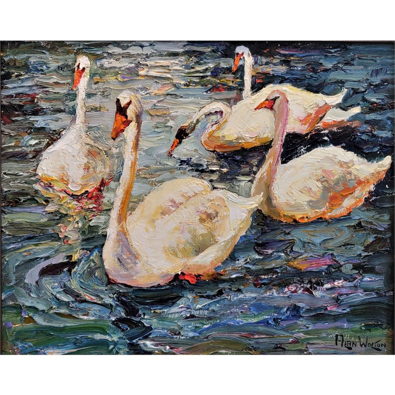 Sailing Swans by Alan Wolton