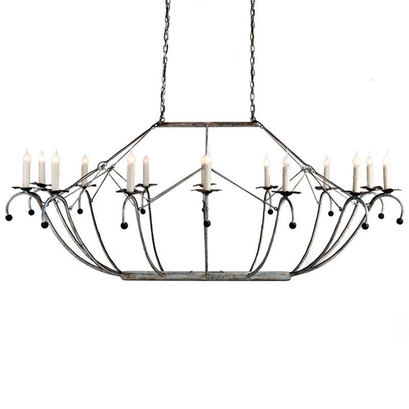 Oval Basket Chandelier
