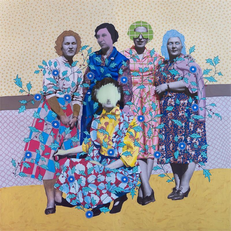 Untitled (Five Patterned Women), 2016