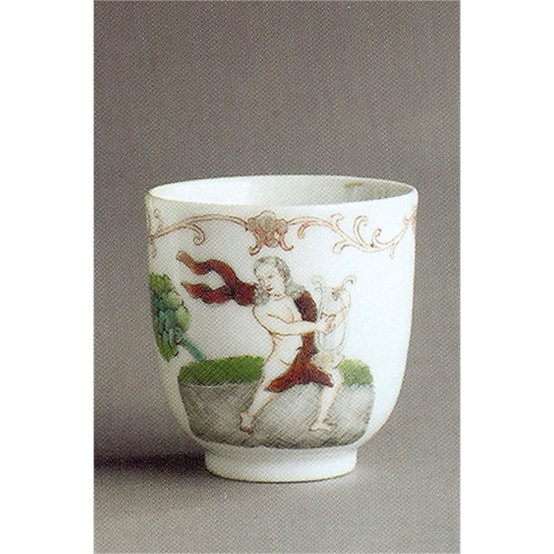 FAMILLE ROSE COFFEE CUP WITH ORPHEUS AND HIS LYRE, Chinese, circa 1745