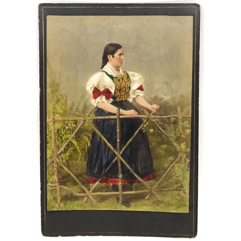 Hungarian Painted Cabinet Card 5, Circa 1880s