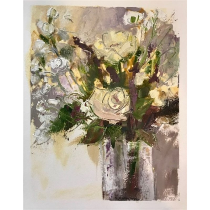 Chromatic floral study framed , 2019