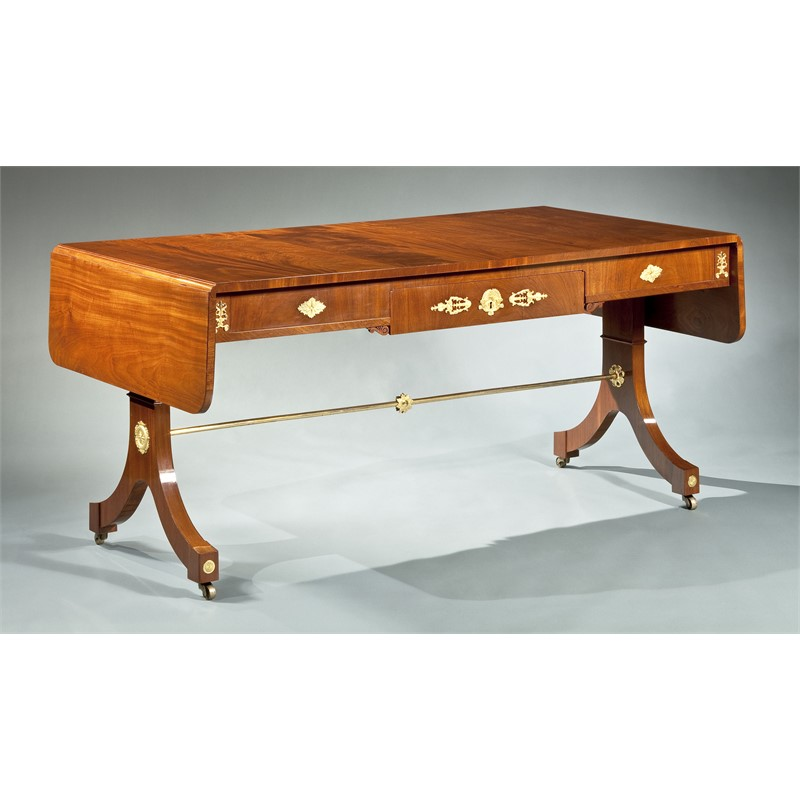 MAHOGANY LIBRARY TABLE, French, circa 1800