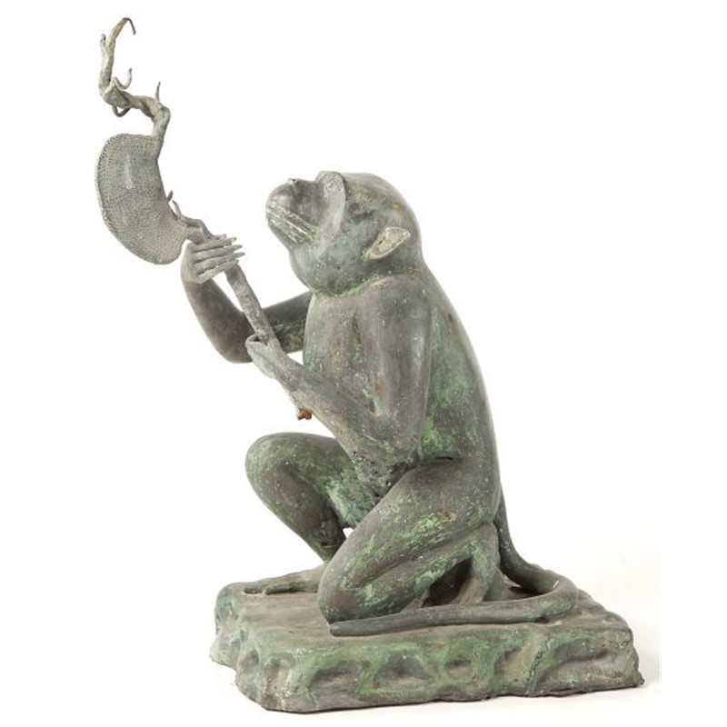 JAPANESE BRONZE MONKEY SCULPTURE, Japanese, 19th century