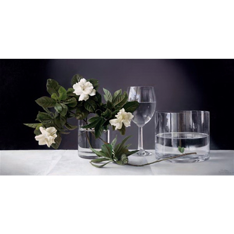 Gardenias with Glass Vase (1/95)