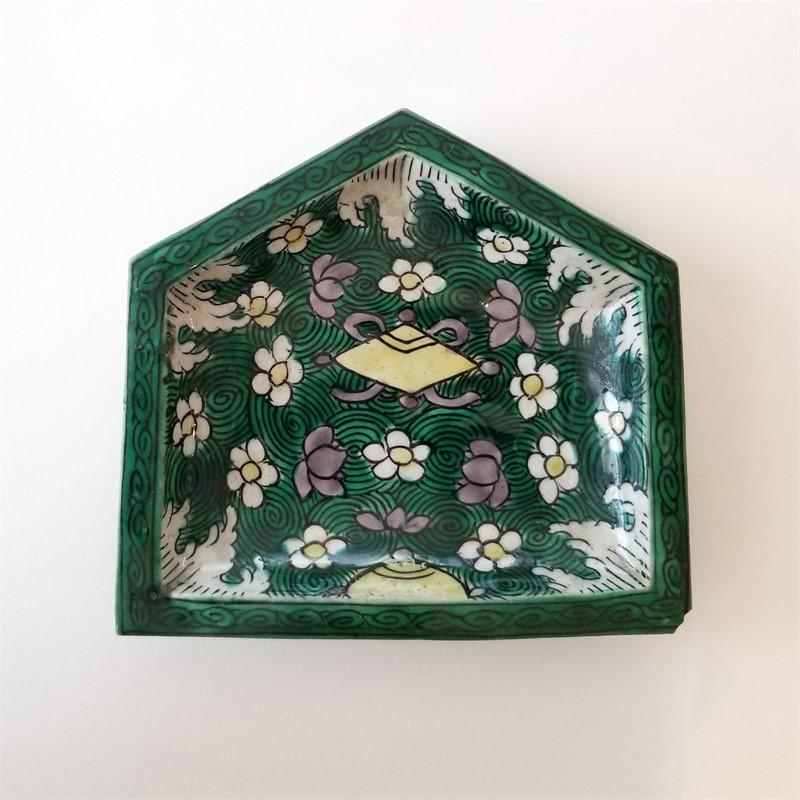 PENTAGONAL BISCUIT SWEETMEAT DISH, Kangxi Period (1662-1722)