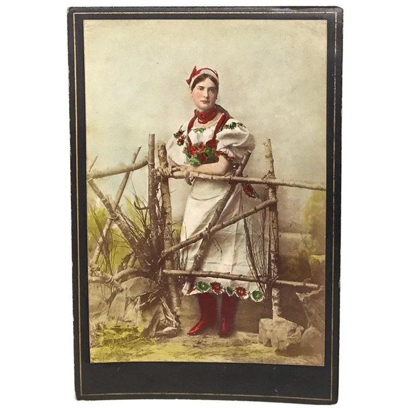 Hungarian Painted Cabinet Card 1, Circa 1880s